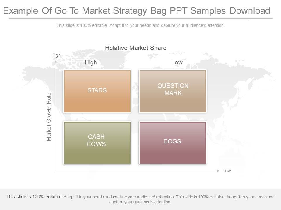 See Example Of Go To Market Strategy Bag Ppt Samples Download