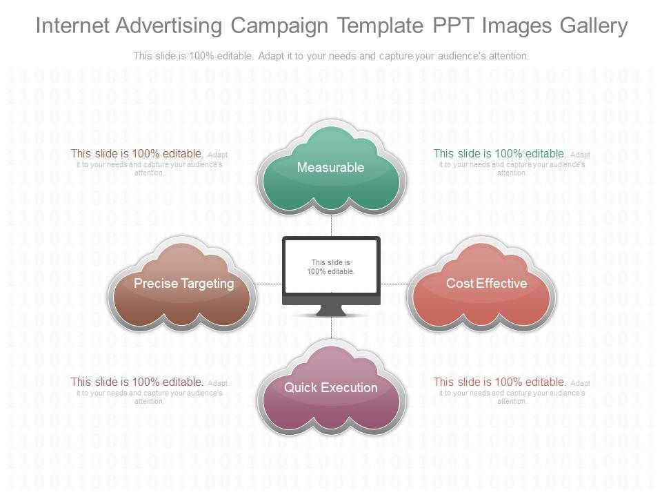 See internet advertising campaign template ppt images for Online marketing campaign template