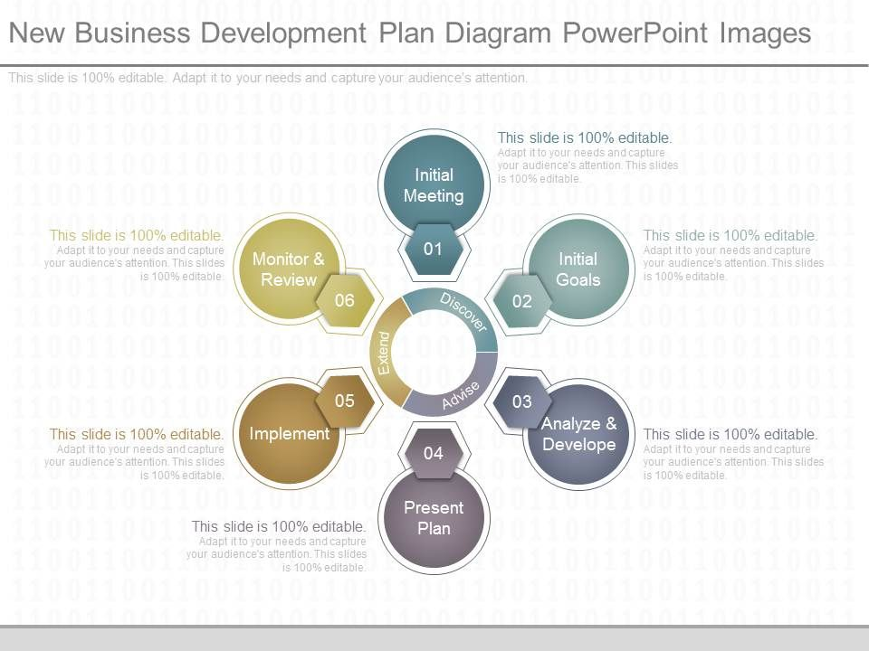 9276265 style circular hub-spoke 6 piece powerpoint presentation, Powerpoint templates