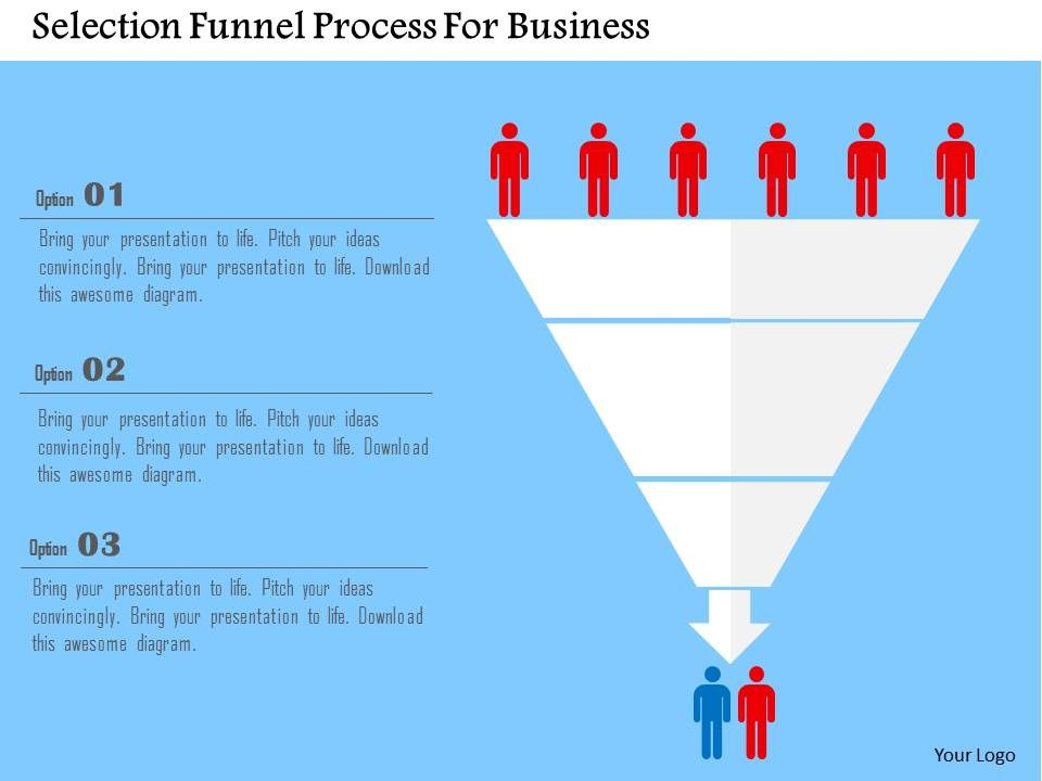 Selection Funnel Process For Business Flat Powerpoint Design - Awesome funnel image powerpoint concept