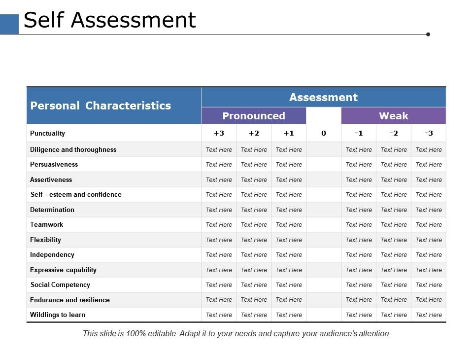 Self Assessment Ppt Powerpoint Presentation File Tips