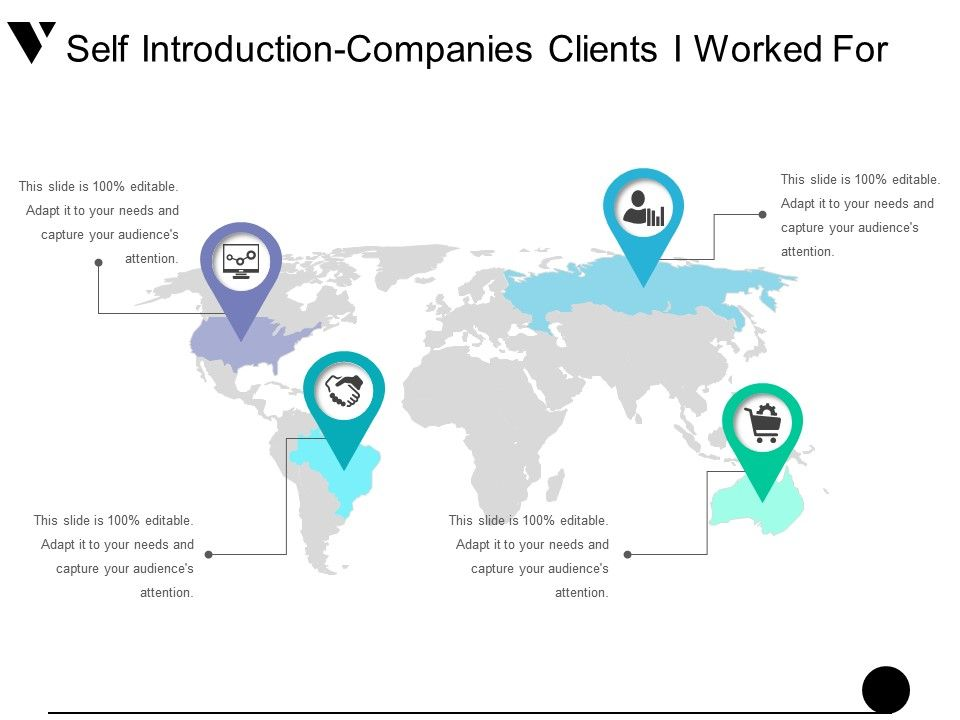 self introduction companies clients i worked for presentation, Powerpoint templates