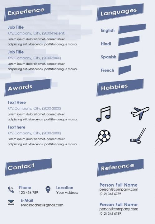 Self Introduction Creative Resume Cv Sample With Personal Info And Skills Presentation Graphics Presentation Powerpoint Example Slide Templates