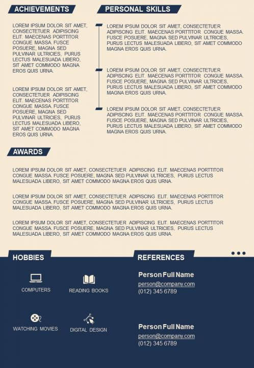 Self Introduction Customizable Resume Design Example Template Powerpoint Slides Diagrams Themes For Ppt Presentations Graphic Ideas