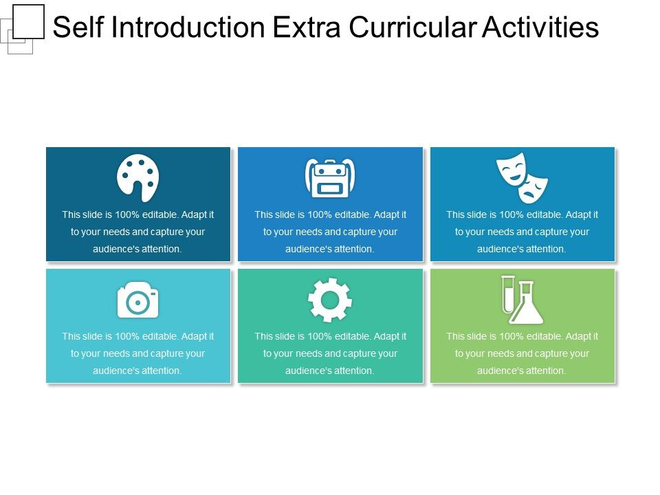 Self Introduction Extra Curricular Activities Sample Of Ppt