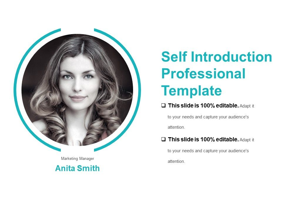 self introduction professional template sample