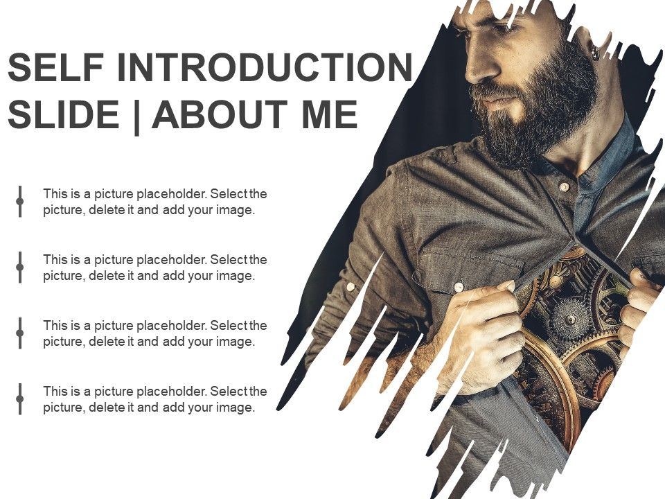 self introduction slide about me powerpoint guide