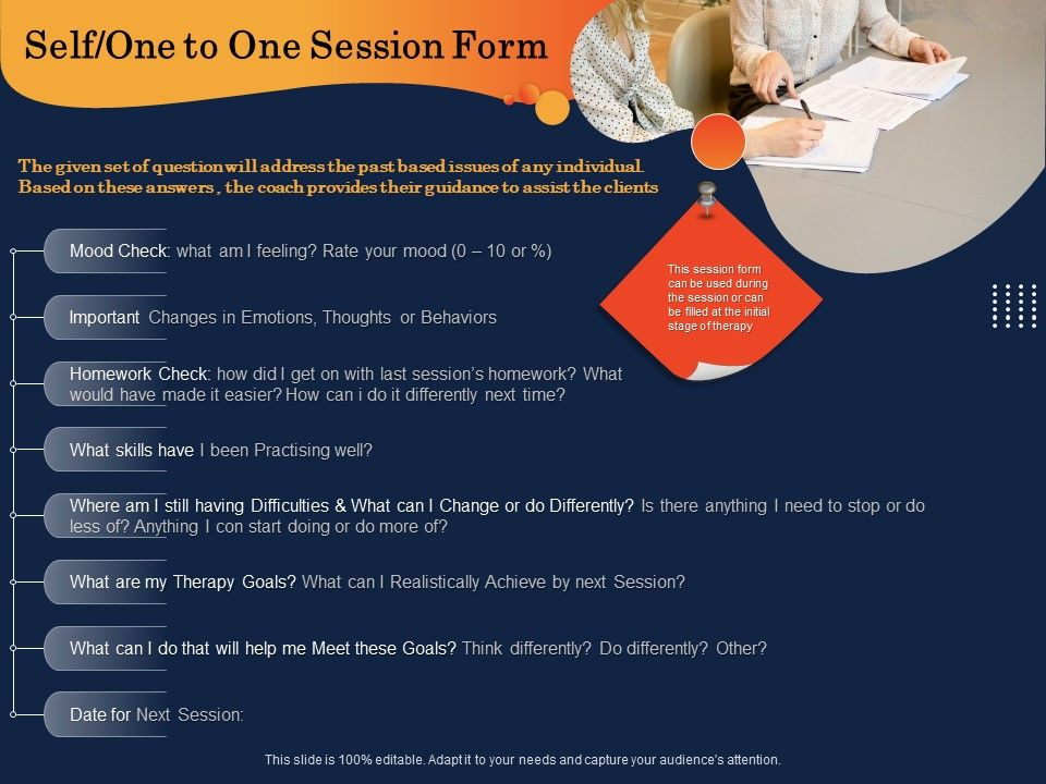 Self One To One Session Form Homework Check Ppt Powerpoint Presentation Deck