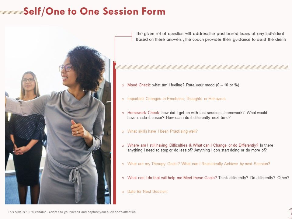 Self One To One Session Form Practising Well Ppt Powerpoint Presentation Slide Download