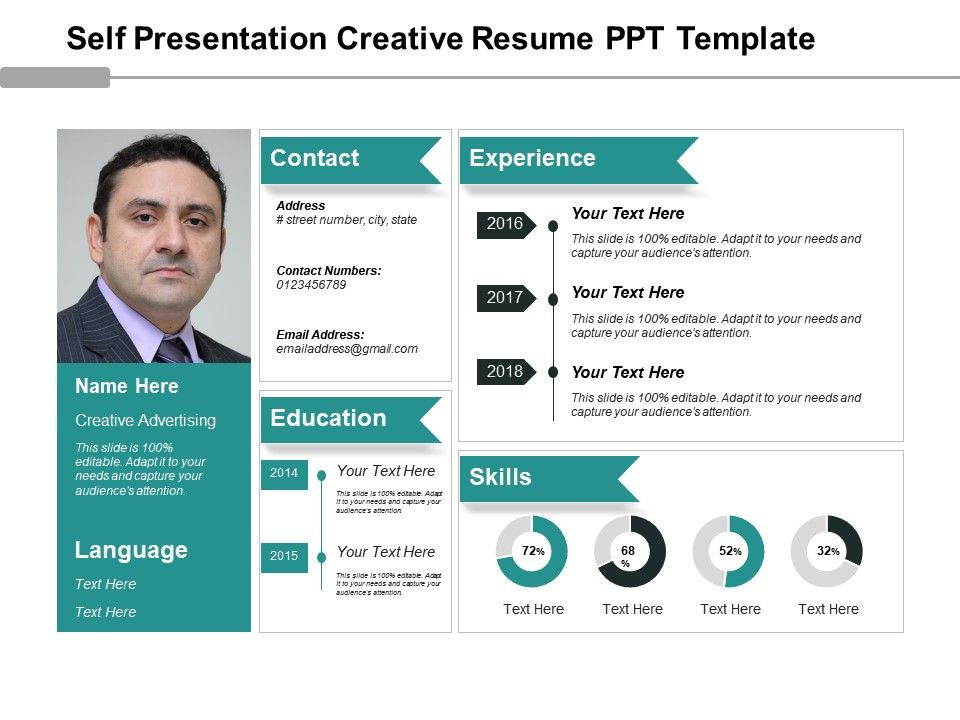 Attractive Self_presentation_creative_resume_ppt_template_Slide01.  Self_presentation_creative_resume_ppt_template_Slide02 Ideas Resume Ppt