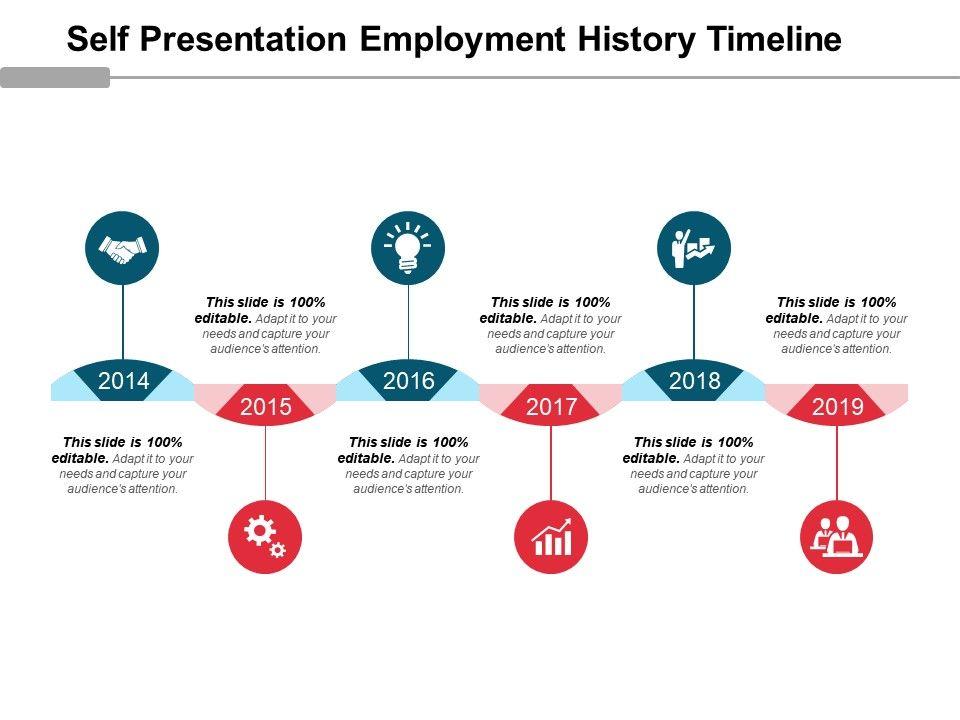 self presentation employment history timeline good ppt example