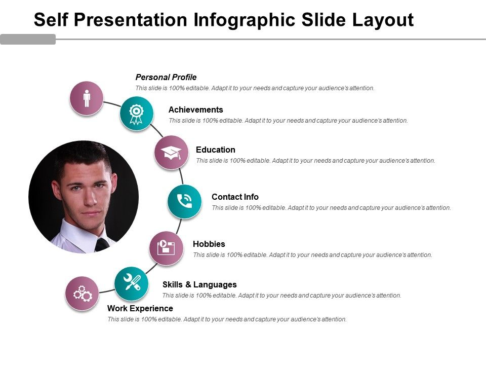 Self Presentation Infographic Slide Layout Powerpoint