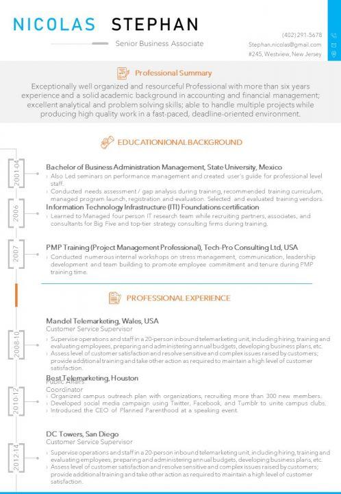 Senior Business Associate Resume Sample Template Powerpoint
