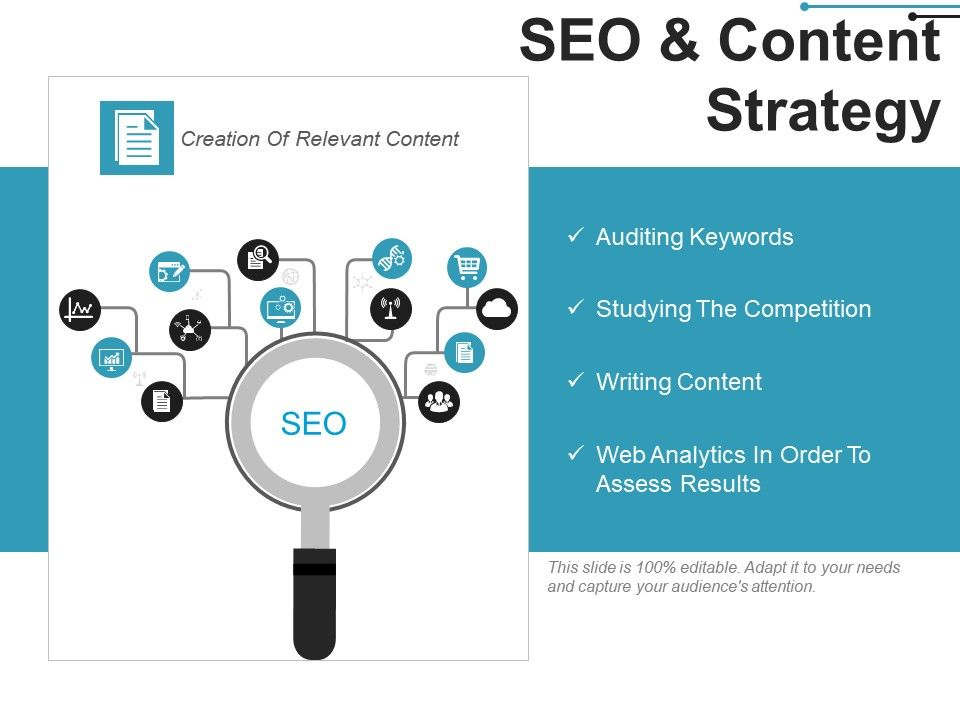 Seo And Content Strategy Example Of Ppt | PowerPoint
