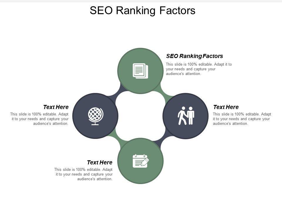 SEO Ranking Factors Ppt Powerpoint Presentation Icon Maker