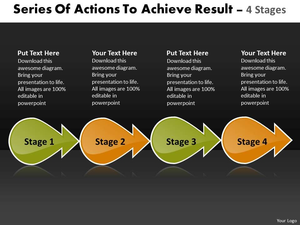 series_of_actions_to_achieve_result_4_stages_oil_flow_chart_powerpoint_templates_Slide01