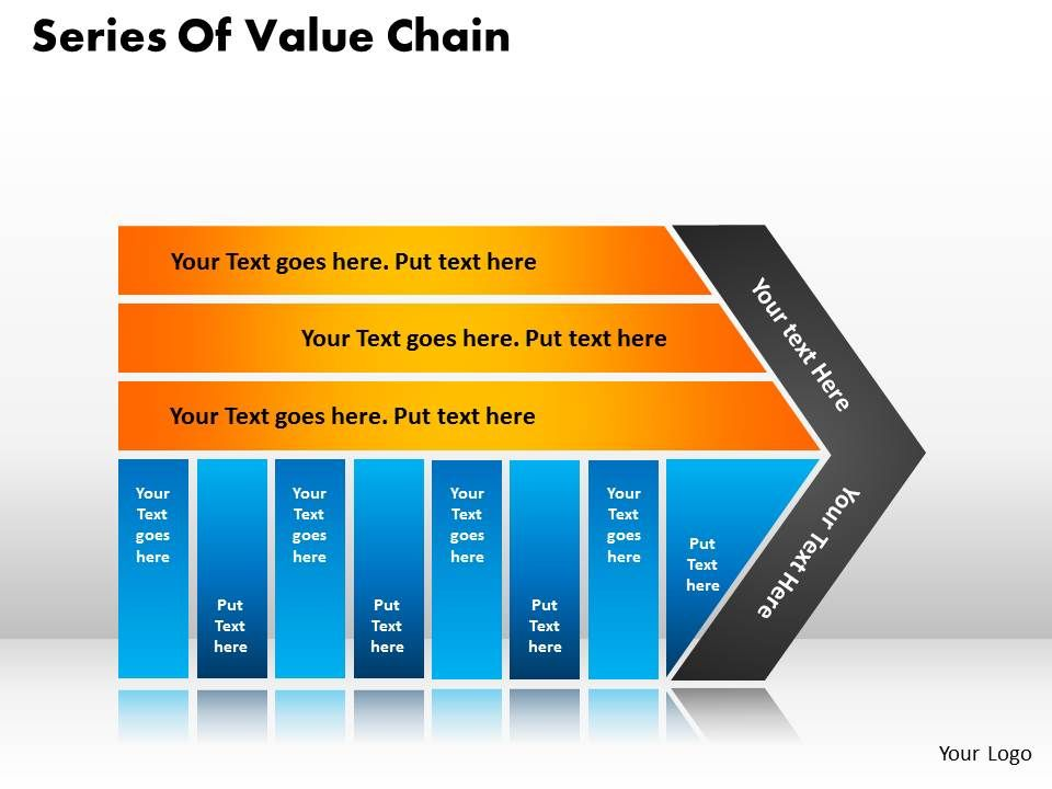 Series Of Value Chain Templates Used In Marketing And Strategy