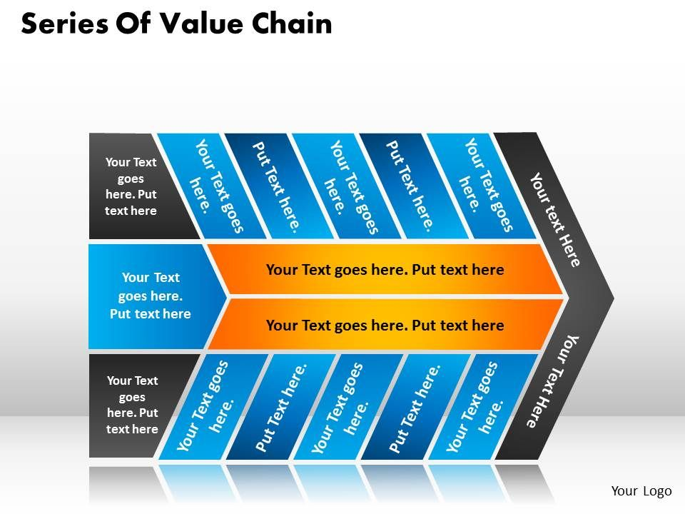 series of value chain templates used in marketing and strategy, Powerpoint