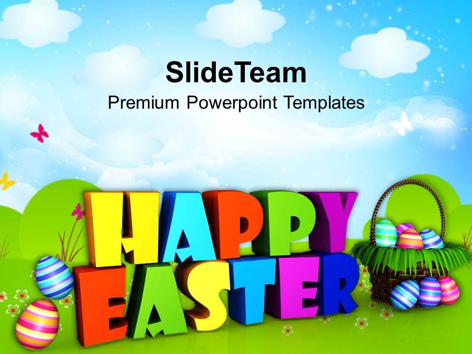 Sermon Easter Sunday Wishing Happy Wishes Powerpoint Templates Ppt