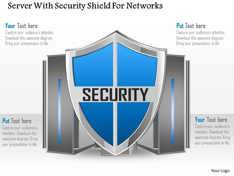 server_with_security_shield_for_networks_ppt_slides_Slide01