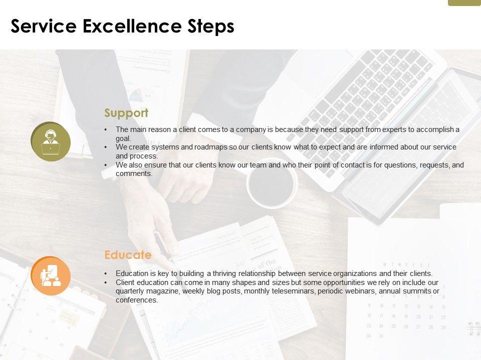 service_excellence_steps_ppt_powerpoint_presentation_file_professional_Slide01