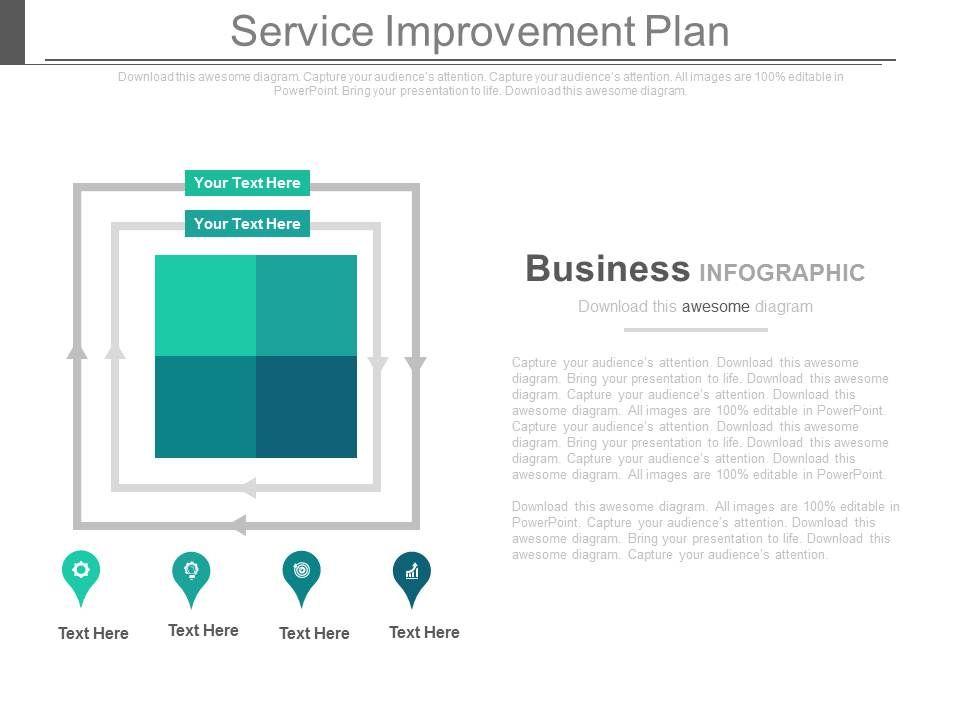 continuous service improvement plan template - service improvement plan ppt slides powerpoint slide