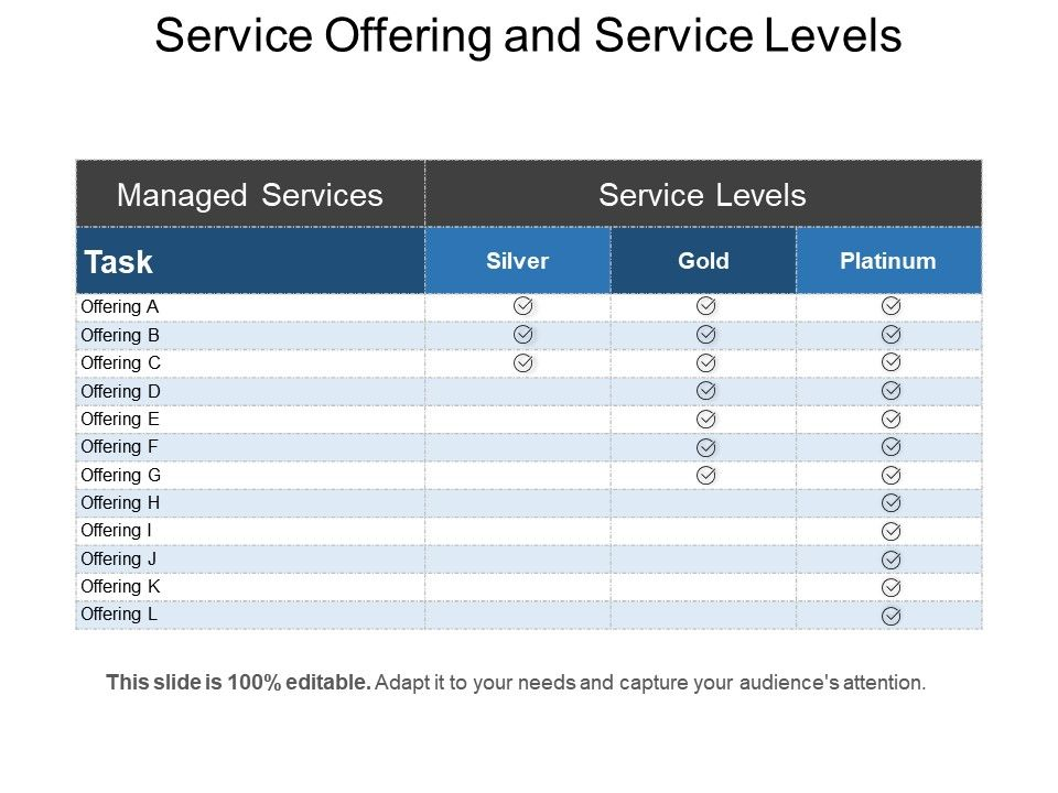 service offering and service levels powerpoint templates