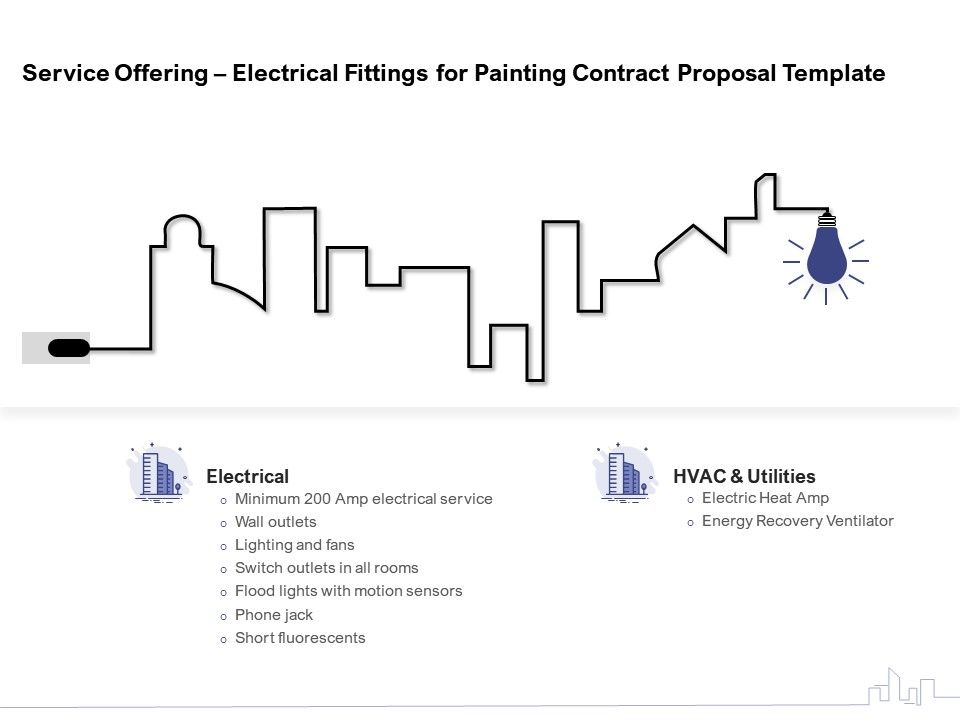 Service Offering Electrical Fittings For Painting Contract Proposal Template Ppt Model Vector Powerpoint Slides Diagrams Themes For Ppt Presentations Graphic Ideas
