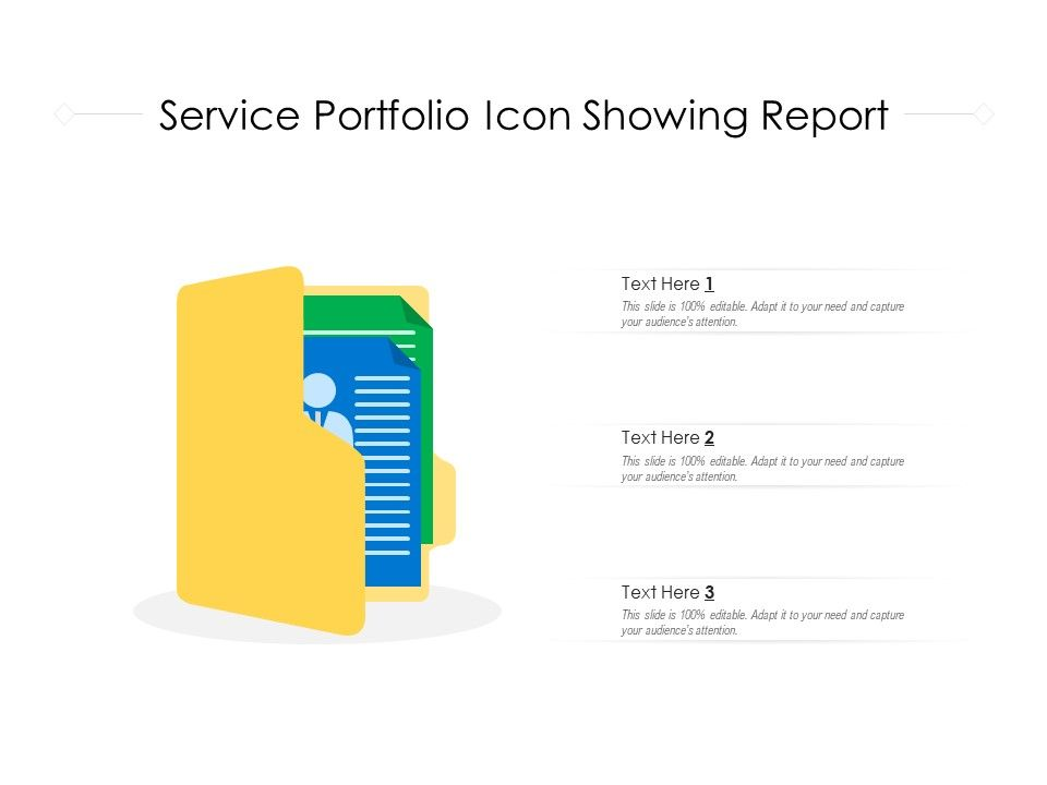 Service Portfolio Icon Showing Report