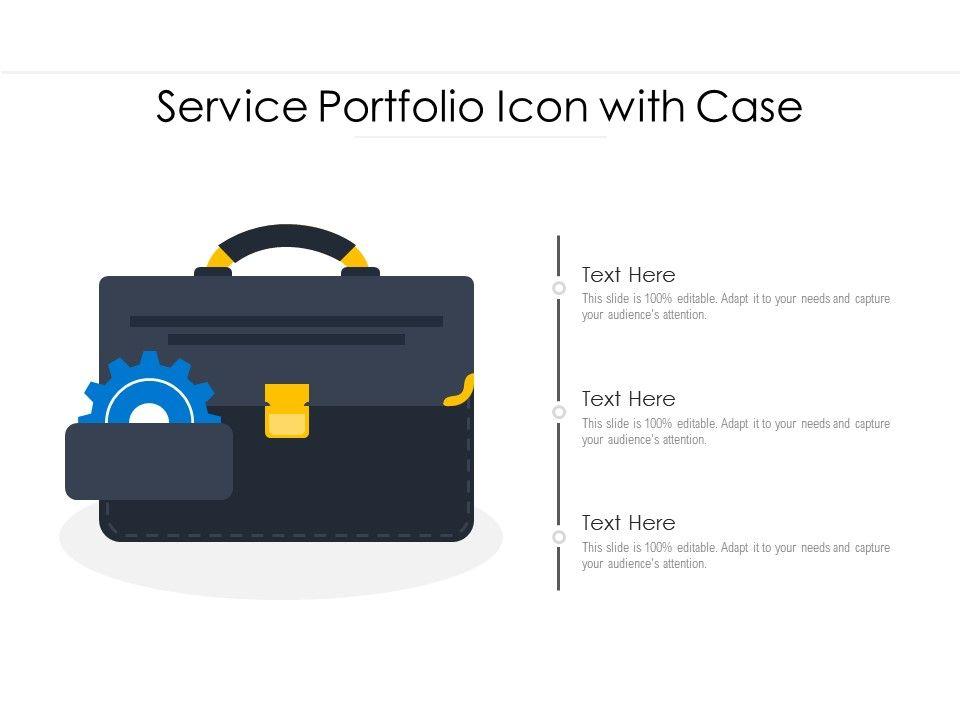 Service Portfolio Icon With Case