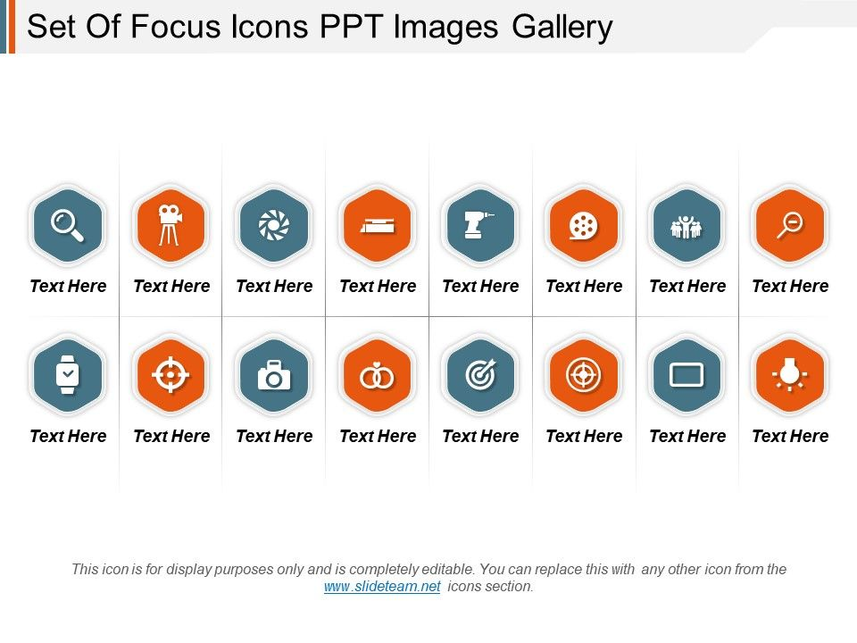 set of focus icons ppt images gallery powerpoint slide