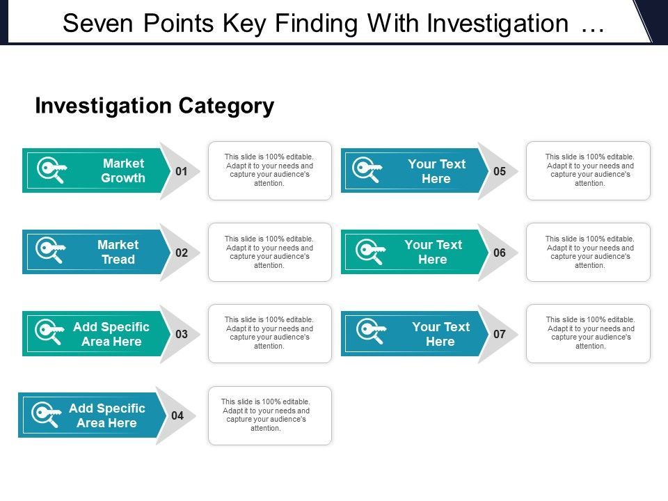seven_points_key_finding_with_investigation_category_market_growth_and_tread_Slide01