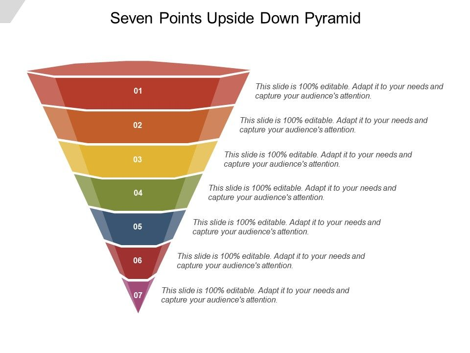Seven Points Upside Down Pyramid