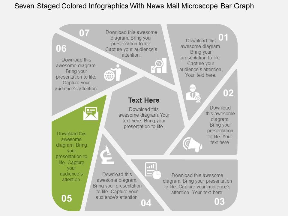 Seven staged colored infographics with news mail microscope bar sevenstagedcoloredinfographicswithnewsmailmicroscopebargraphflatpowerpointdesignslide06 ccuart Images
