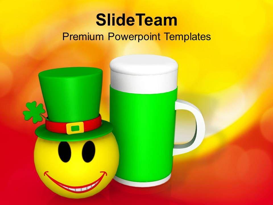 shamrock_st_patricks_day_feast_celebration_with_smiley_templates_ppt_backgrounds_for_slides_Slide01