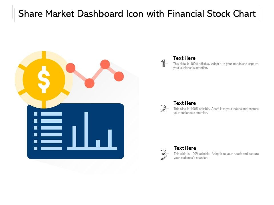 Share Market Dashboard Icon With Financial Stock Chart