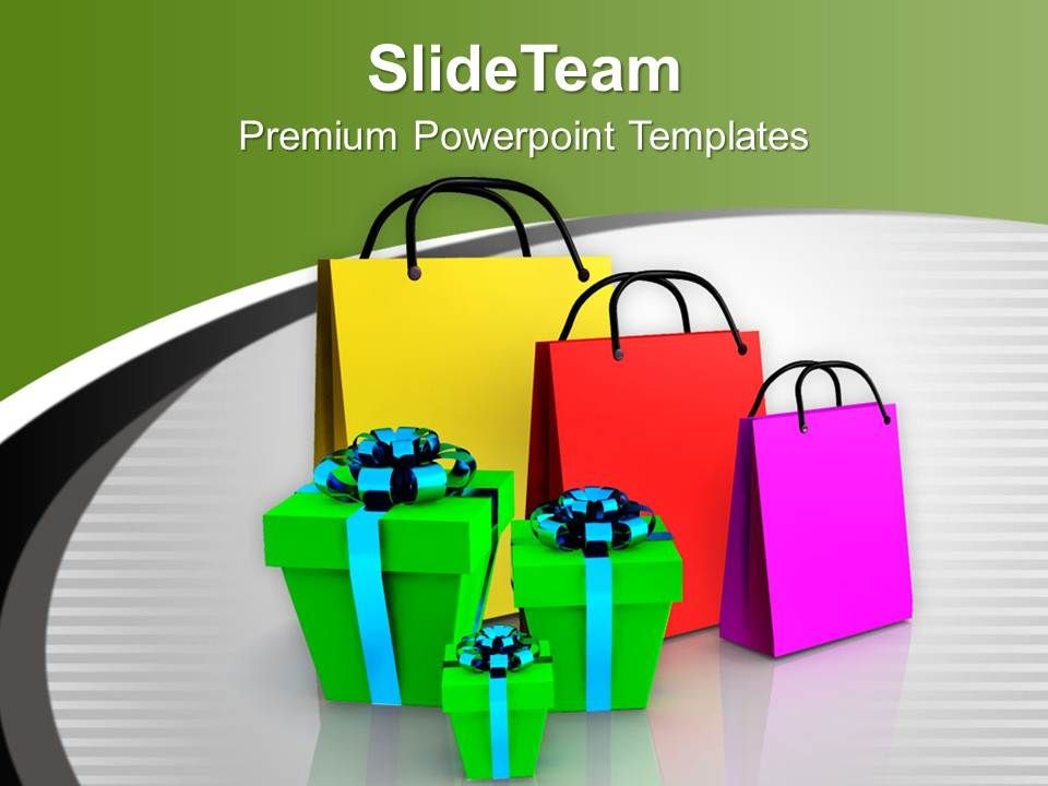 shopping bags and gifts festival powerpoint templates ppt themes and, Powerpoint Plastic Bag Presentation Template, Presentation templates