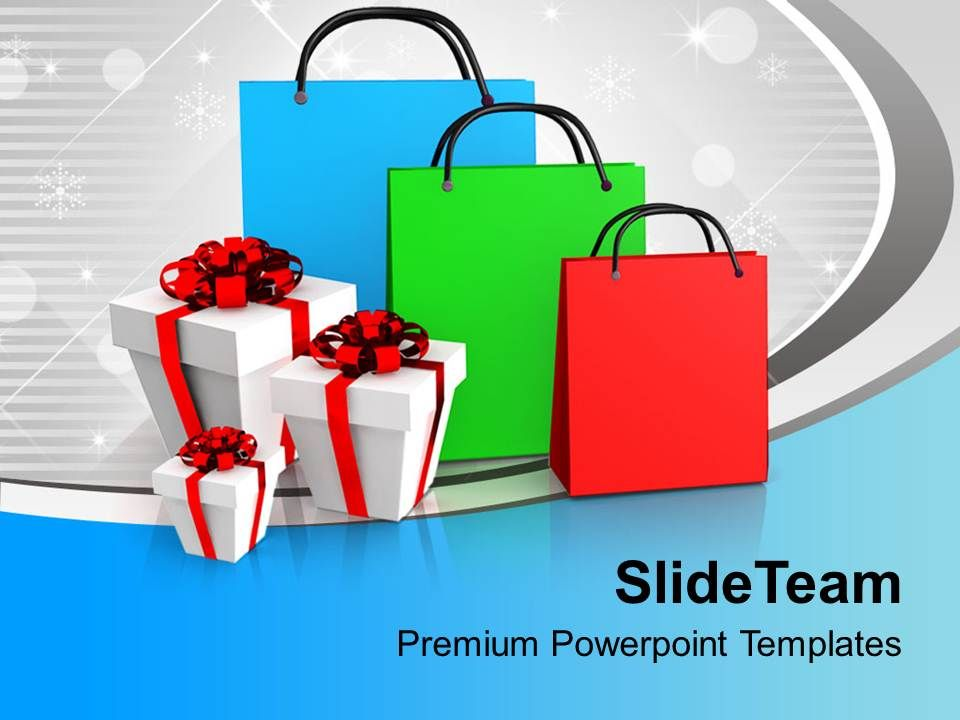 shopping bags and presents powerpoint templates ppt themes and, Powerpoint Plastic Bag Presentation Template, Presentation templates