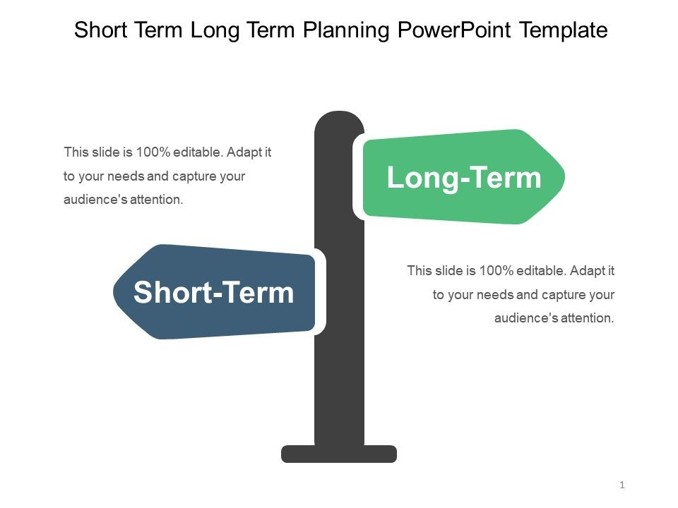 Short Term Long Term... Presenting Short Term Long Term Planning Powerpoint  Template.  Action Planning Templates