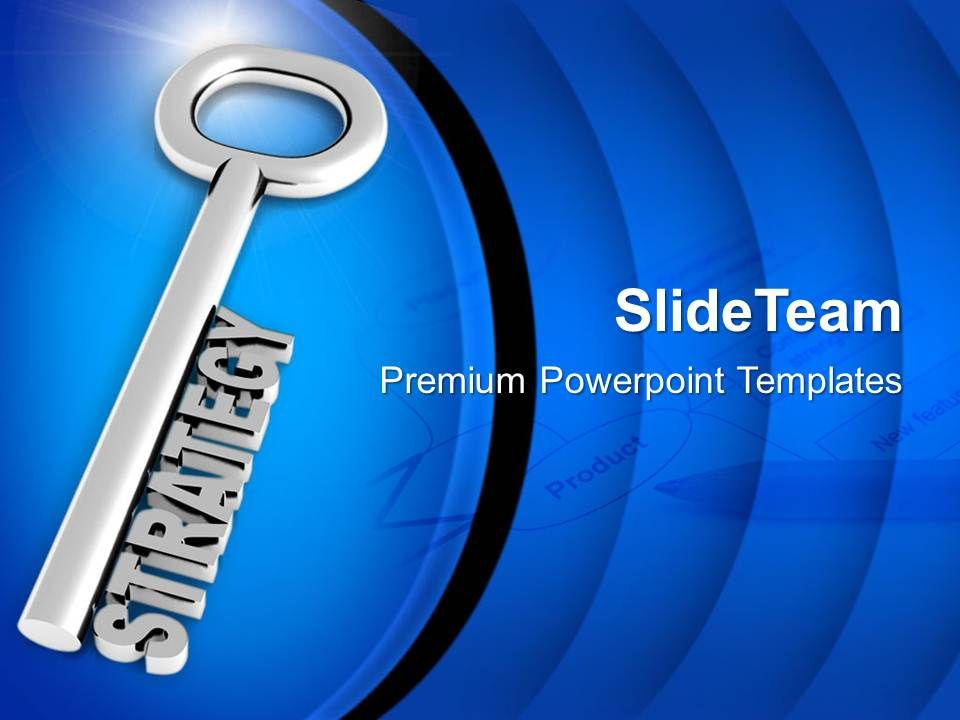 silver_key_with_word_strategy_powerpoint_templates_ppt_themes_and_graphics_0113_Slide01