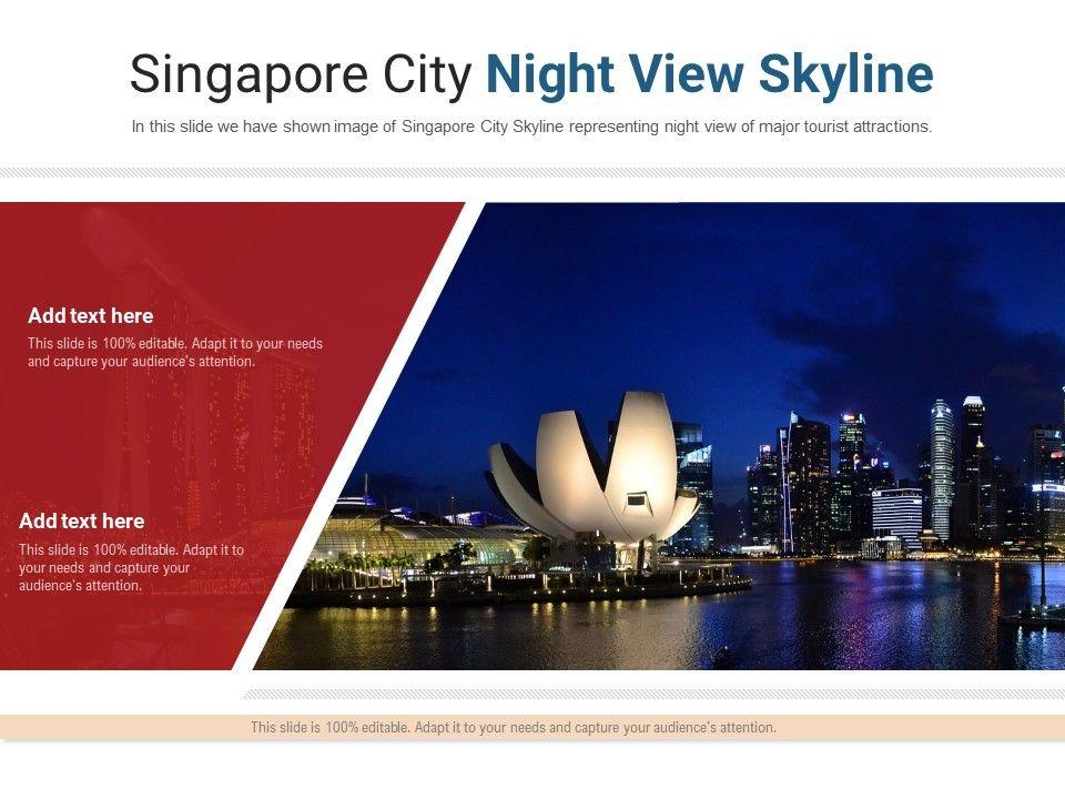 Singapore City Night View Skyline Powerpoint Presentation Ppt Template