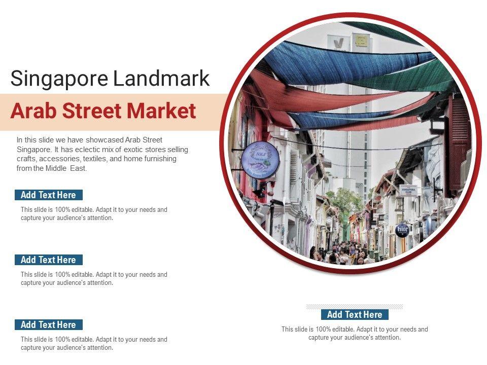 Singapore Landmark Arab Street Market Powerpoint Presentation Ppt Template
