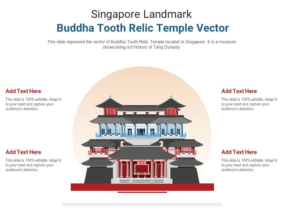 Singapore Landmark Buddha Tooth Relic Temple Vector Powerpoint Presentation Ppt Template