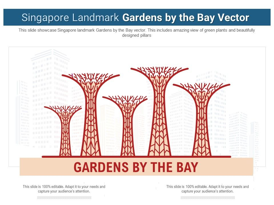 Singapore Landmark Gardens By The Bay Vector Powerpoint Presentation Ppt Template