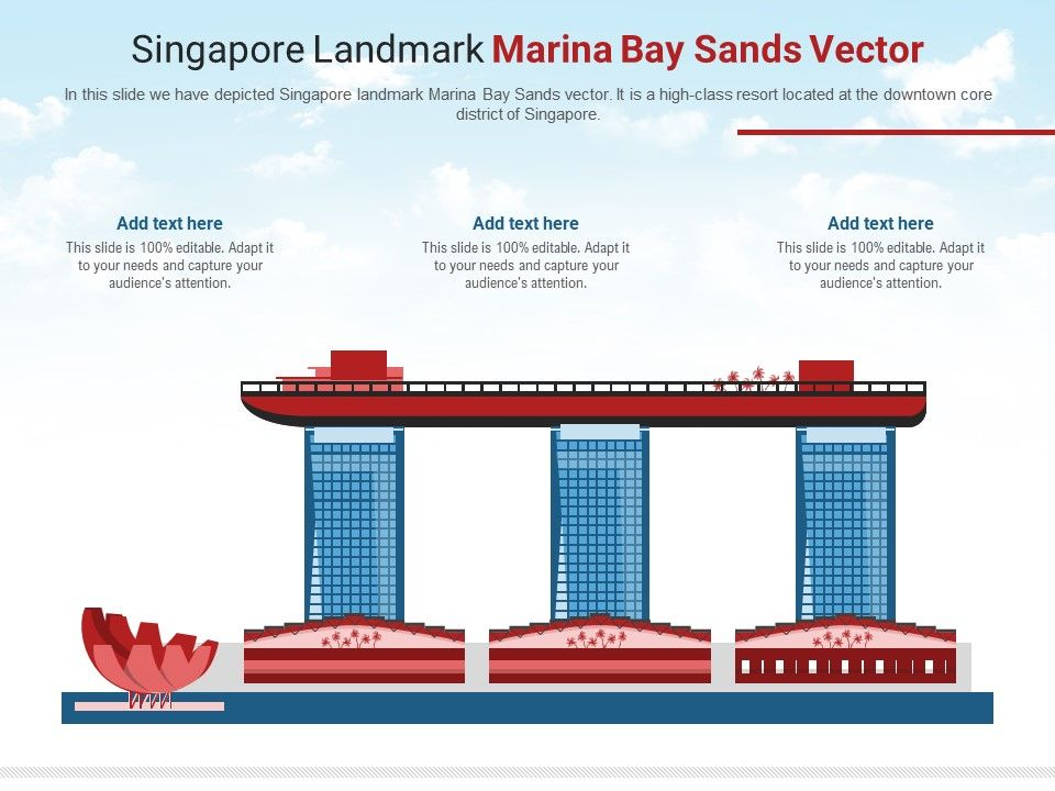 Singapore Landmark Marina Bay Sands Vector Powerpoint Presentation Ppt Template