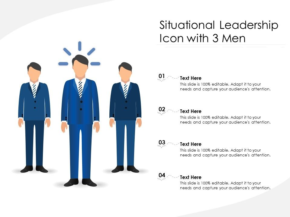 Situational Leadership Icon With 3 Men