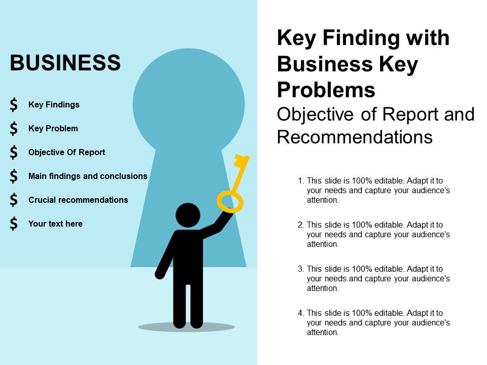 six_key_finding_with_business_key_problems_objective_of_report_and_recommendations_Slide01