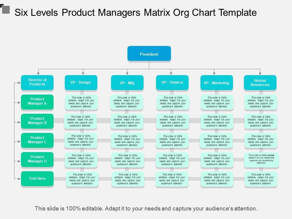 six_levels_product_managers_matrix_org_chart_template_Slide01