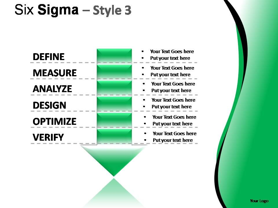 six sigma dmadv project business powerpoint template 0910, Presentation templates