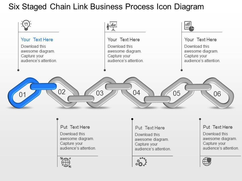 Six staged chain link business process icon diagram powerpoint sixstagedchainlinkbusinessprocessicondiagrampowerpointtemplateslideslide01 ccuart Choice Image